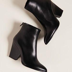 Stuart weitzman bedford leather heeled booties